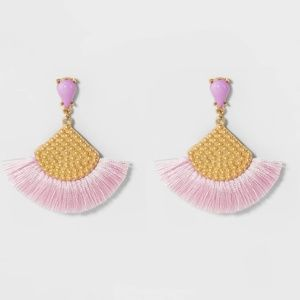 Sugar Fix by BaubleBar lilac fringe earrings